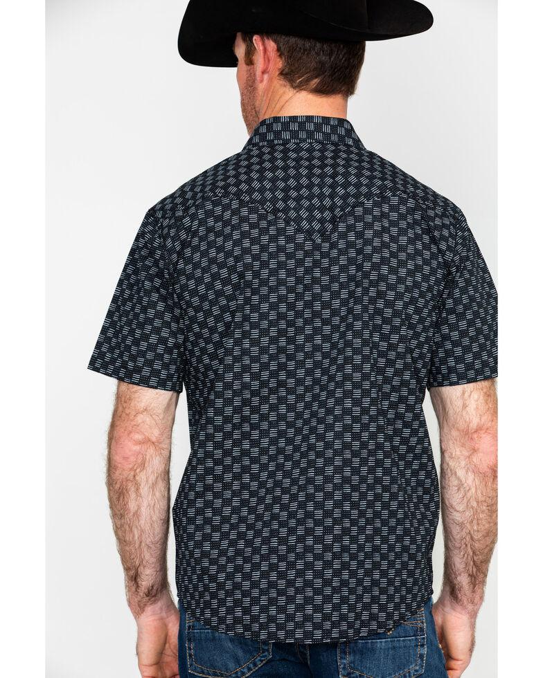 Cody James Men's Sandlot Aztec Print Short Sleeve Western Shirt , Black, hi-res
