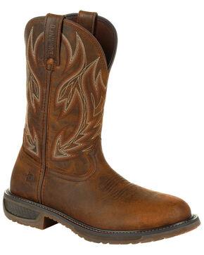 Durango Men's WorkHorse Western Work Boots - Steel Toe , Brown, hi-res