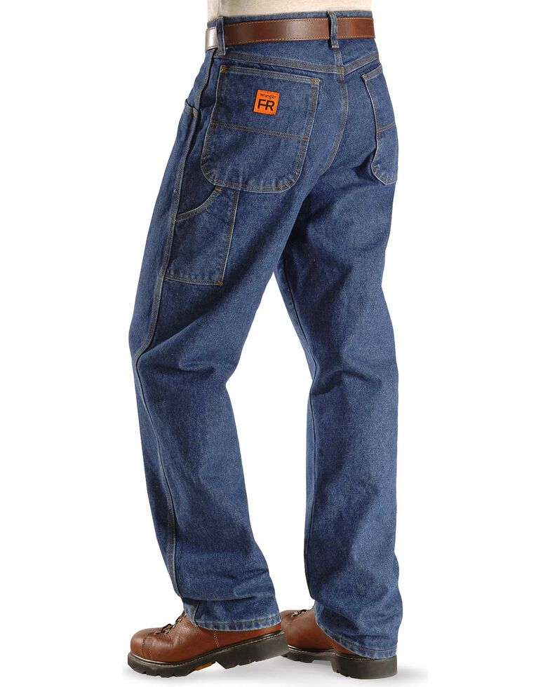 Wrangler Riggs Men's Fire-Resistant Carpenter Relaxed Fit Work Jeans , Indigo, hi-res