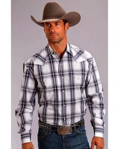 1a1afc86b51 Stetson Men s Navy Plaid Long Sleeve Snap Shirt