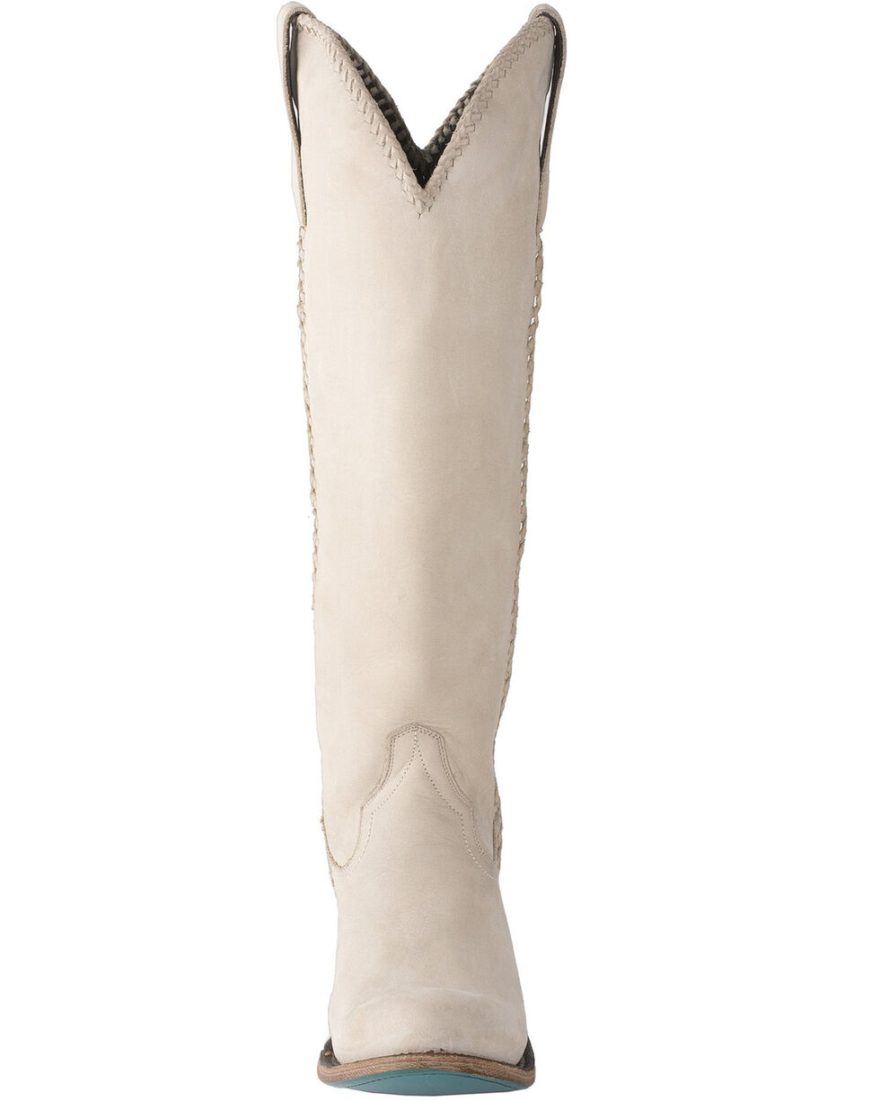 Lane Women's Plain Jane Western Boots - Round Toe, Ivory, hi-res