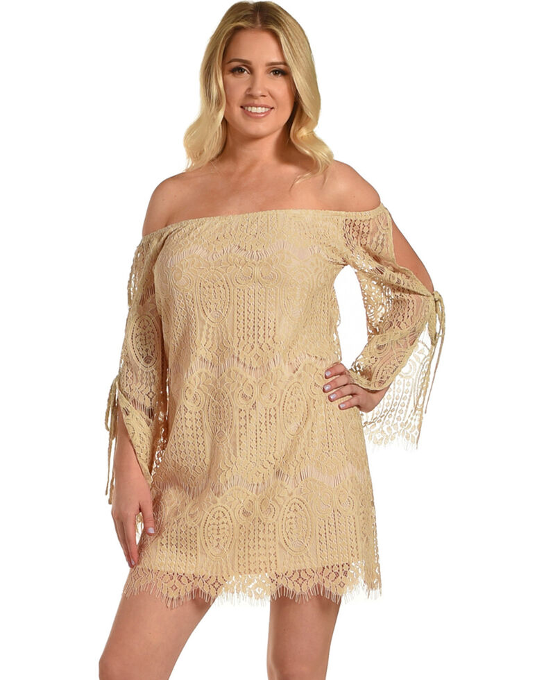 8b24b2be593f Young Essence Women s Lace Off The Shoulder Dress - Country Outfitter