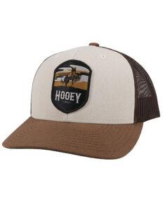 HOOey Boys' Grey Cheyenne Patch Flex Fit Mesh Ball Cap , Brown, hi-res