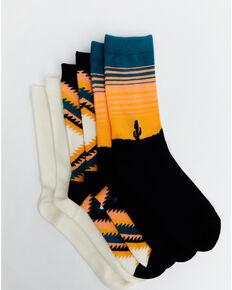 Shyanne Women's Desert Aztec Crew Socks - 3 Pack, Multi, hi-res