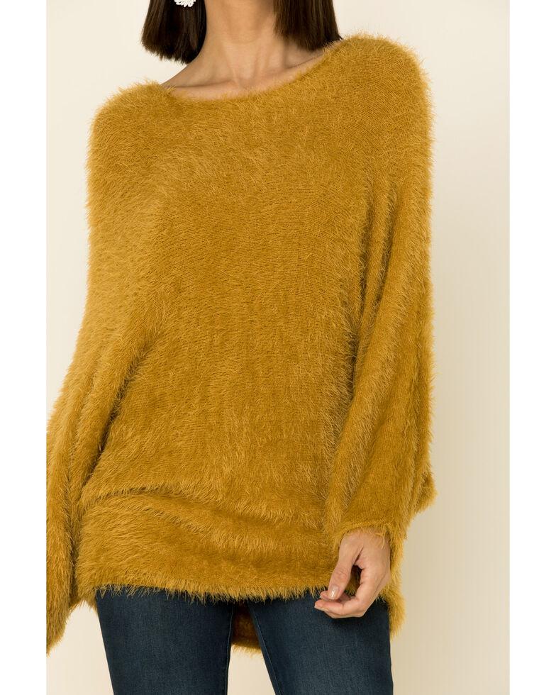 Wishlist Women's Open Back Tie Sweater , Mustard, hi-res