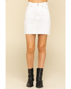 Levi's Women's High-Waisted Deconstructed Iconic Skirt, White, hi-res