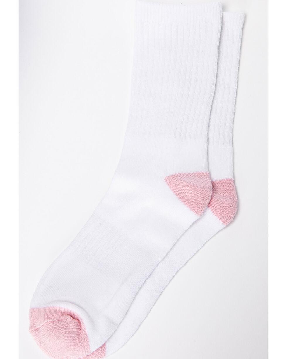 Shyanne Women's Crew Socks - 3 Pack, White, hi-res