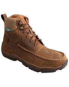 Twisted X Men's Distressed Saddle Hiker Boots - Moc Toe, Tan, hi-res