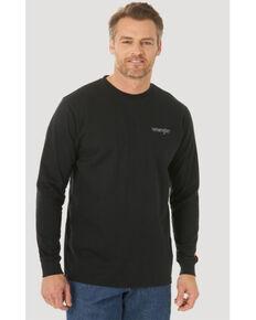 Wrangler FR Men's Black Skull Flag Graphic Long Sleeve Work T-Shirt - Big , Black, hi-res
