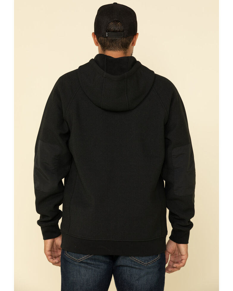 Cody James Men's Harvest Zip Front Hooded Sweatshirt , Black, hi-res