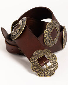 Idyllwind Women's Highway 65 Concho Belt, Brown, hi-res