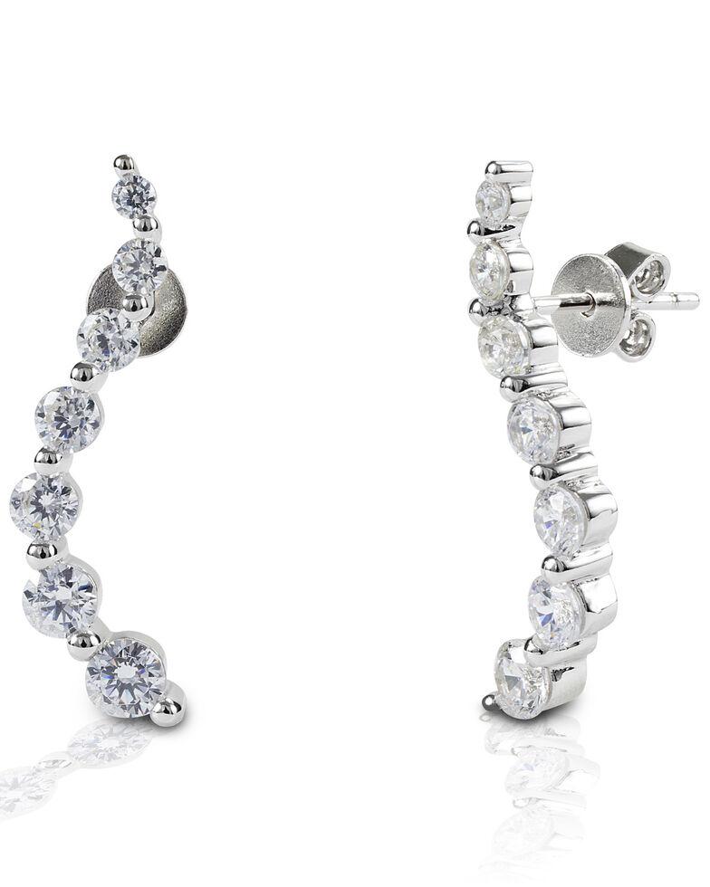 Kelly Herd Women's Journey Earrings , Silver, hi-res