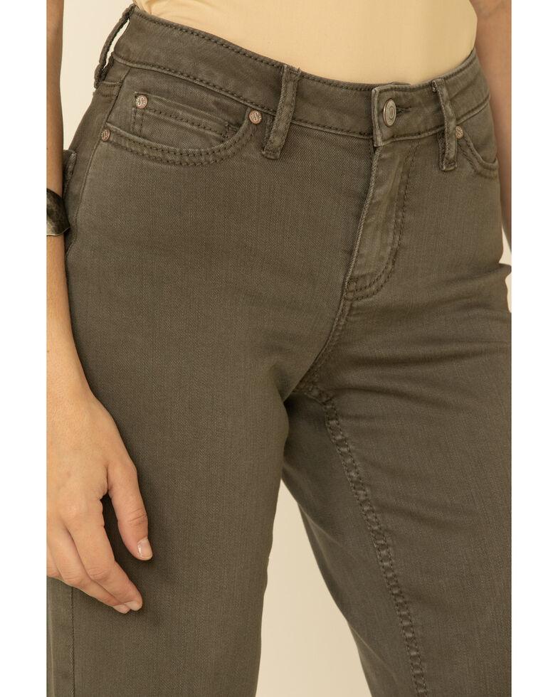 Shyanne Women's Olive Flare Jeans, Olive, hi-res