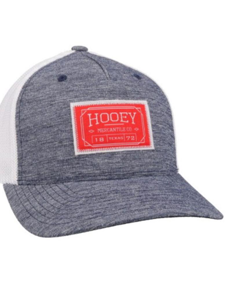 HOOey Men's Blue Doc Logo Patch Soft Mesh Flex Fit Ball Cap , Blue, hi-res