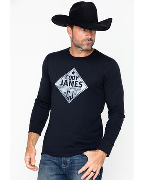 Cody James Men's Badge Graphic Long Sleeve Thermal Shirt - 2XL, Black, hi-res