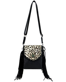 Montana West Women's Leopard Crossbody Bag, Black, hi-res