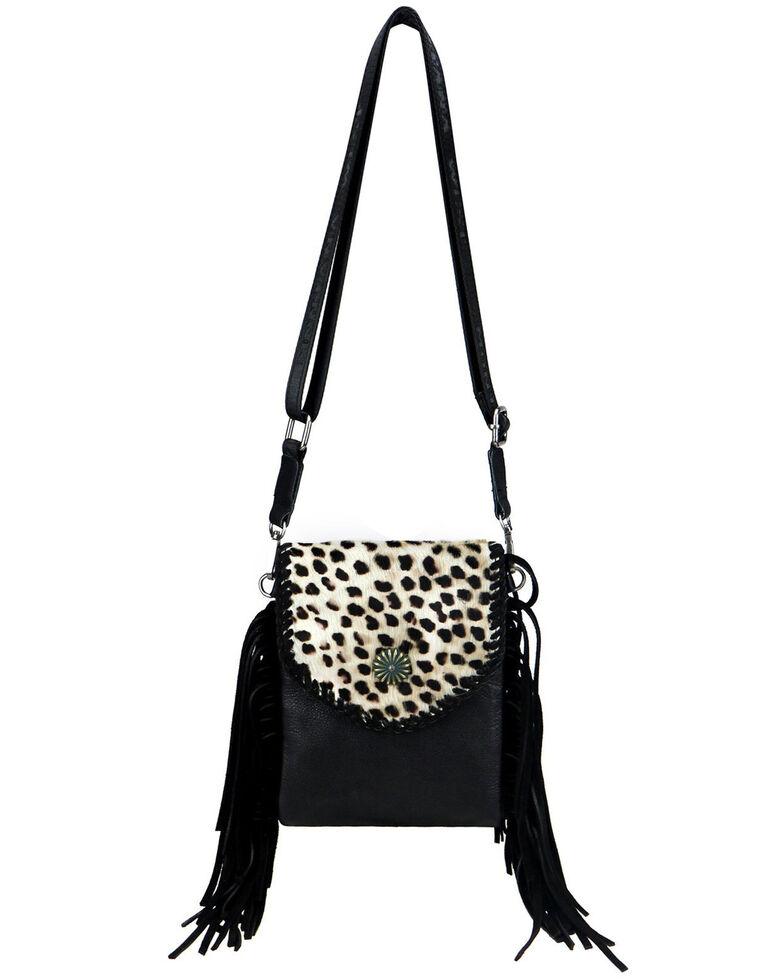 Montana West Women's Leopard Crossbody Bag, Black, hi-res