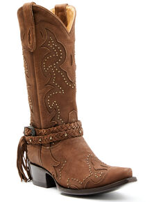 Idyllwind Women's Barfly Brown Western Boots - Snip Toe, Brown, hi-res