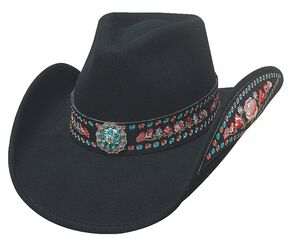 Bullhide Peace of Mind Wool Cowgirl Hat, Black, hi-res