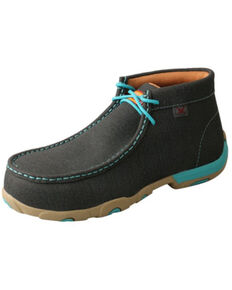 Twisted X Women's Work Alloy Toe Chukka Driving Moc , Teal, hi-res