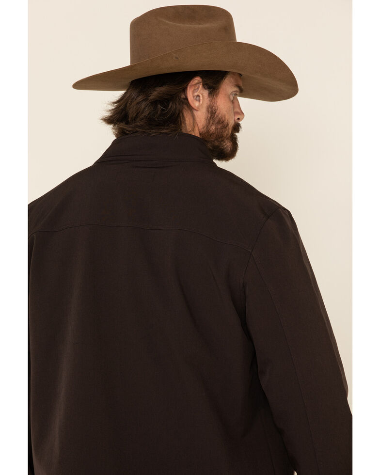 Cody James Men's Brown Steamboat Softshell Bonded Zip Front Jacket -  Big , Brown, hi-res