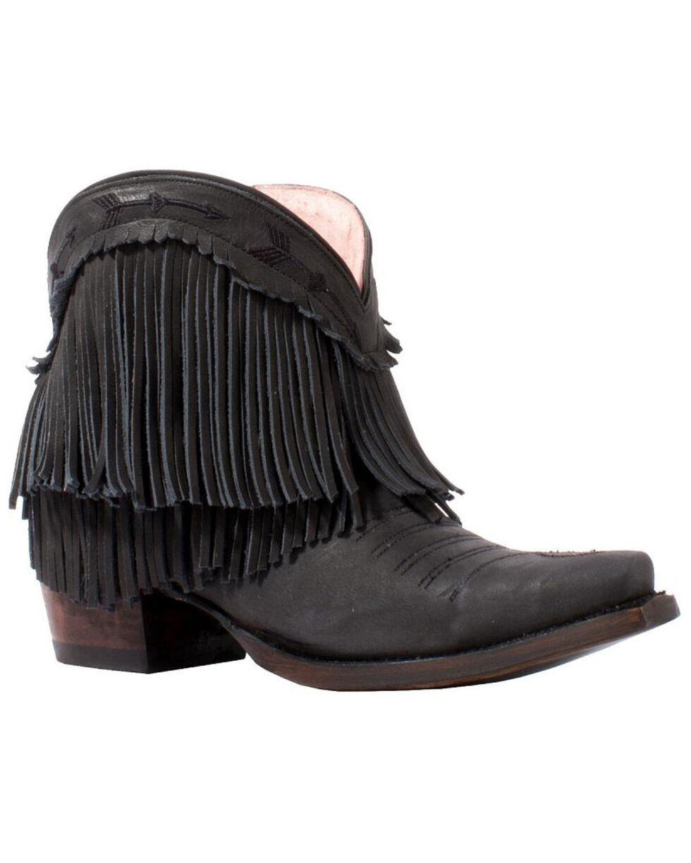 Junk Gypsy by Lane Women's Black Spitfire Booties - Snip Toe , Black, hi-res