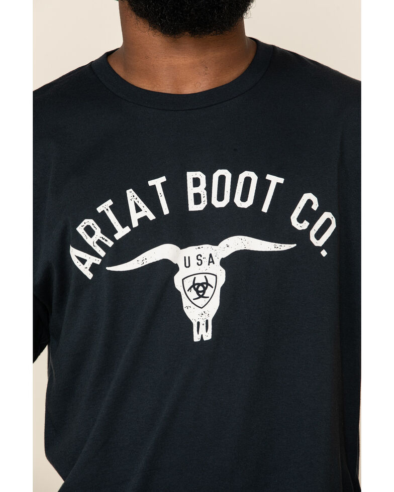 Ariat Men's Navy USA Stag Graphic Short Sleeve T-Shirt , Navy, hi-res