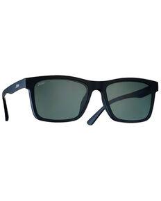 Hobie Lennox Satin Black & Grey Mirror PC Polarized Lens , Black, hi-res