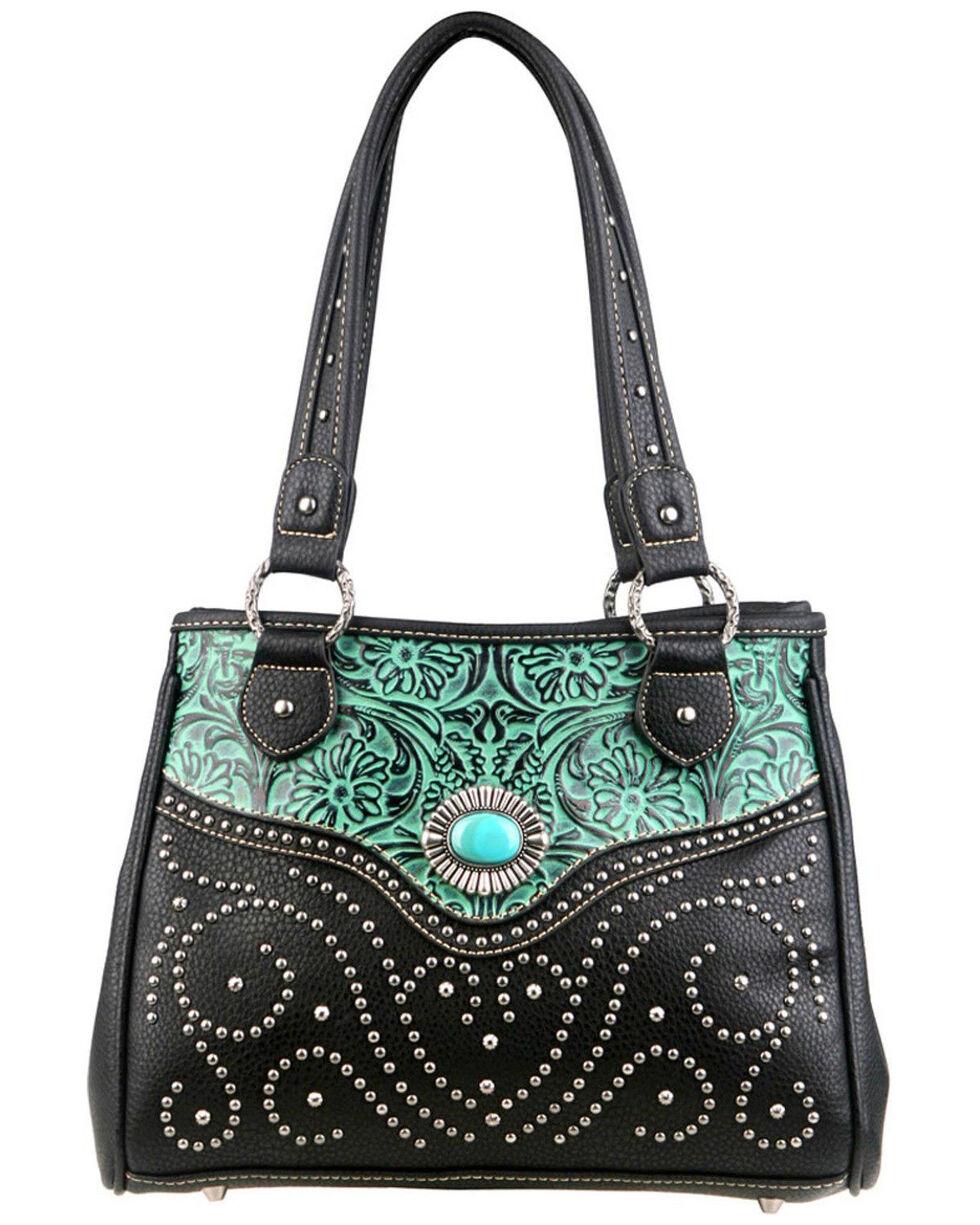Montana West Trinity Ranch Tooled Design Handbag, , hi-res