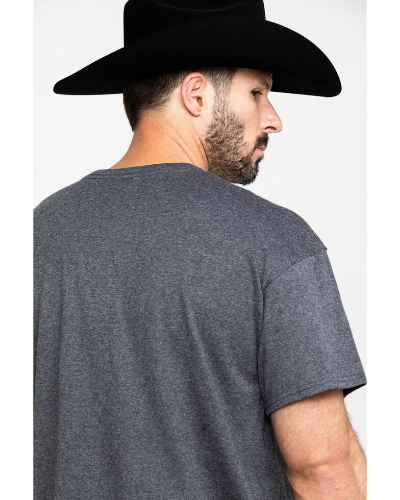 Wrangler Men's Cowboy Script Graphic T-Shirt , Grey, hi-res