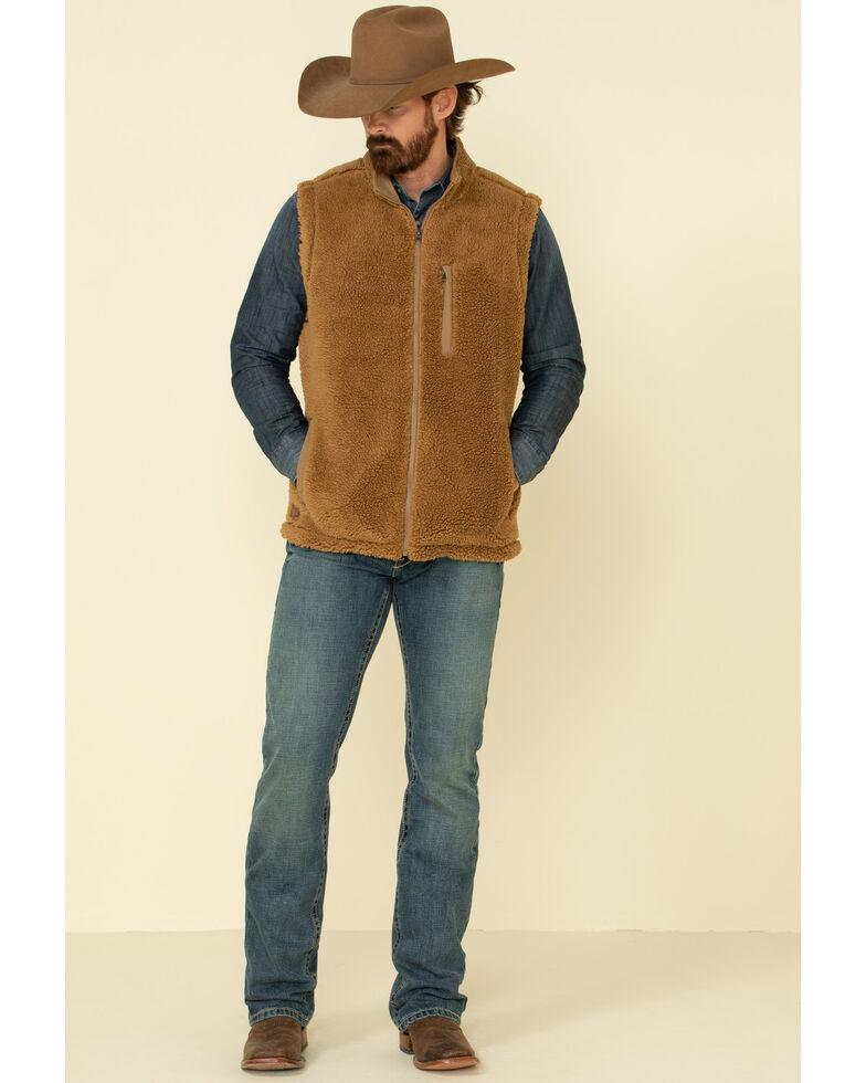 Moonshine Spirit Men's Mammoth Zip-Front Sherpa Vest , Lt Brown, hi-res