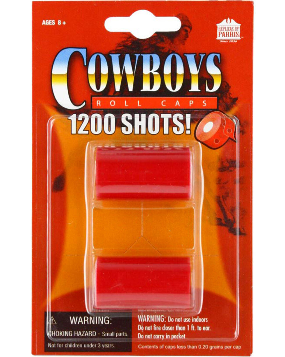 Parris Cowboy 1200 Round Roll Caps, No Color, hi-res