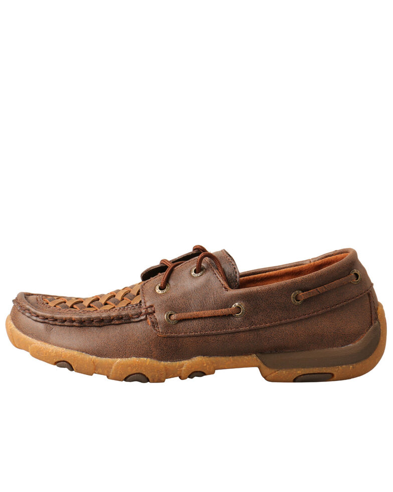 Twisted X Women's Woven Driving Shoes - Moc Toe, Brown, hi-res