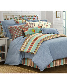 HiEnd Accents Blue Chambray 3-Piece Comforter Set - Full , Light Blue, hi-res