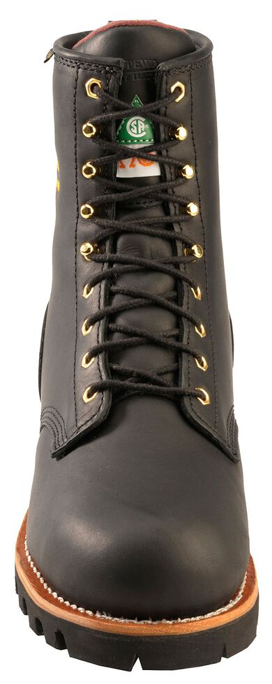 Chippewa Women's Oiled Waterproof & Insulated Logger Boots - Steel Toe, Black, hi-res