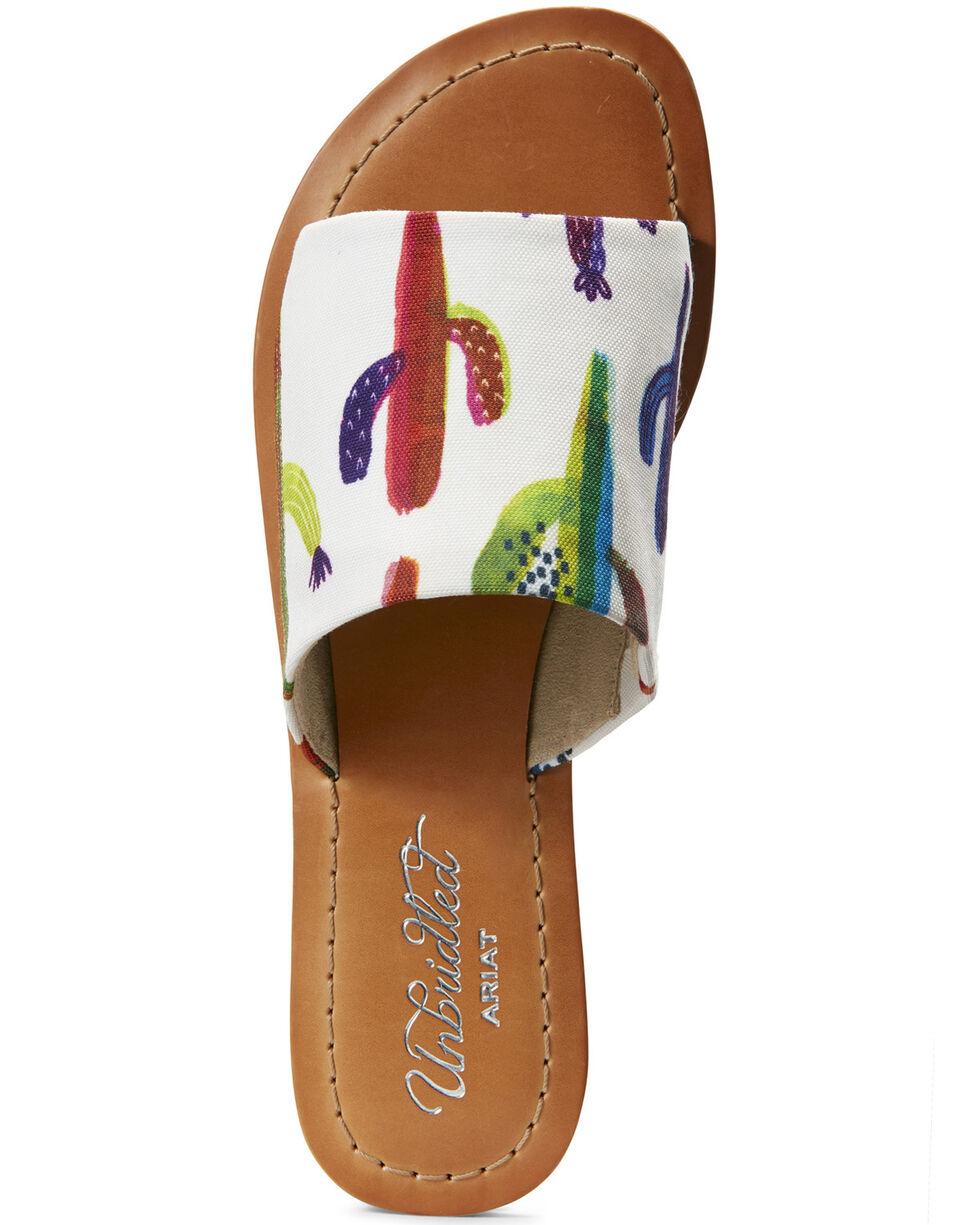 Ariat Women's Unbridled Ellie Cactus Print Sandals, Green, hi-res