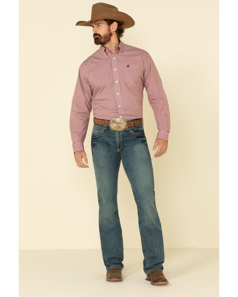 Cinch Men's Multi Diamond Geo Print Button Long Sleeve Western Shirt , Multi, hi-res