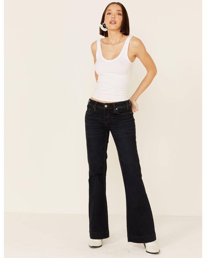 Rock & Roll Denim Women's Mid-Rise Trouser Jeans, Blue, hi-res