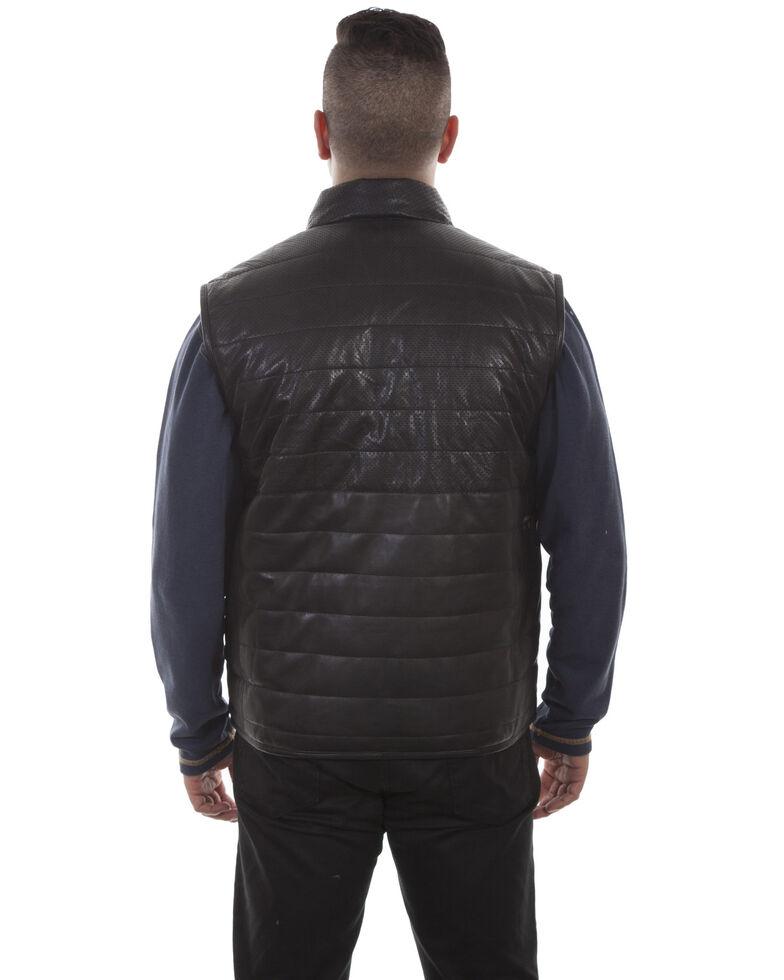 Scully Men's Black Lamb Vest, Black, hi-res