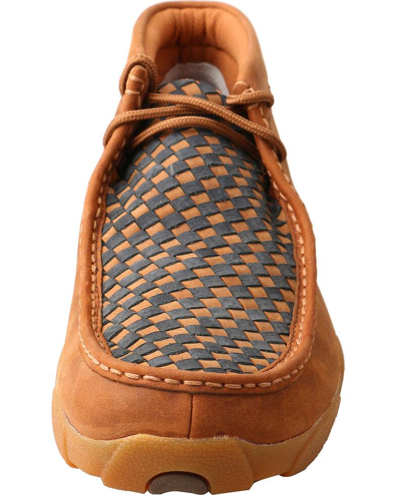 Twisted X Men's Slip On Basketweave Driving Mocs - Moc Toe, Brown, hi-res