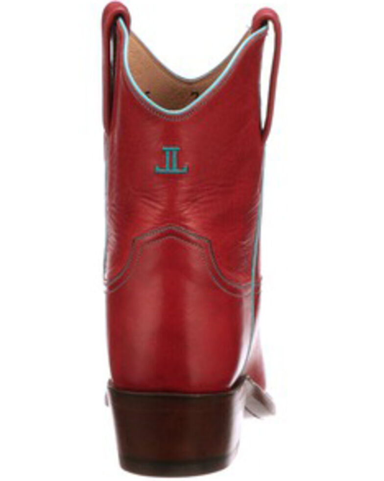 Lucchese Women's Gaby Western Booties - Round Toe, Red, hi-res