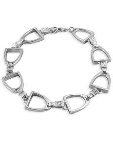 Kelly Herd Women's Large English Stirrup Bracelet , Silver, hi-res