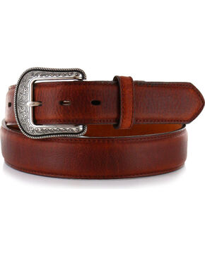 "3D Men's 1 1/2"" Basic Western Belt, Brown, hi-res"