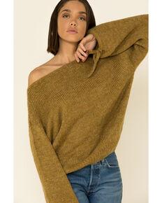 Wishlist Women's Tie Sleeve Pullover Sweater , Mustard, hi-res