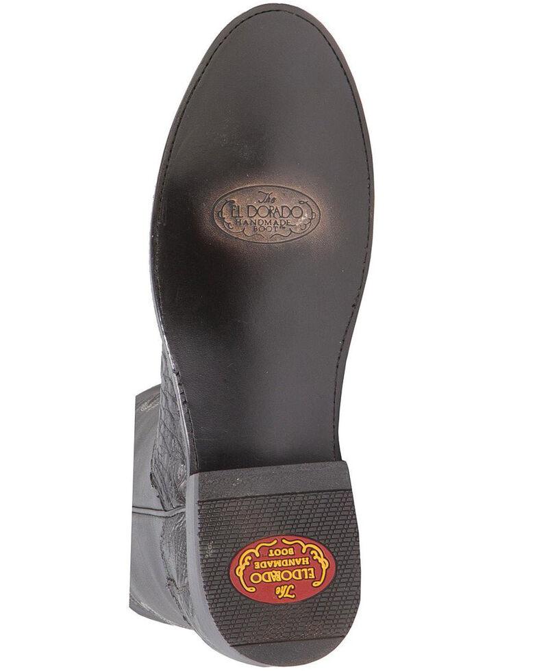 El Dorado Men's Handmade Caiman Belly Roper Boots - Round Toe, , hi-res