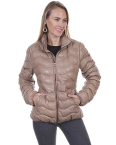 Leatherwear by Scully Women's Ribbed Jacket, Beige/khaki, hi-res