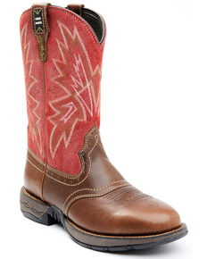 Cody James Men's Red Lite Western Boots - Round Toe, Red, hi-res