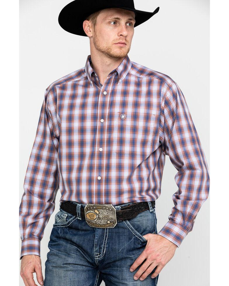 Ariat Men's Wrinkle Free Valero Plaid Long Sleeve Western Shirt - Big , Multi, hi-res
