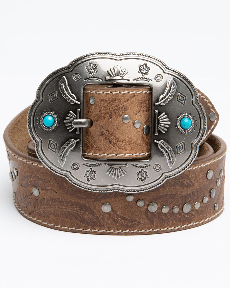 Idyllwind Women's Dancing In The Dust Turquoise Belt, Brown, hi-res
