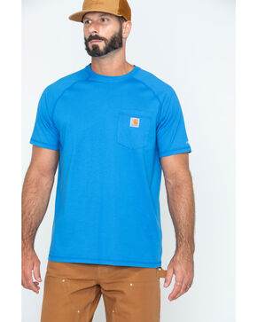 Carhartt Men's Delmont Short Sleeve T-Shirt, Light Blue, hi-res